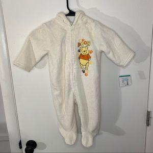 New Disney Baby Winnie-The-Pooh Onesie Footie 12M